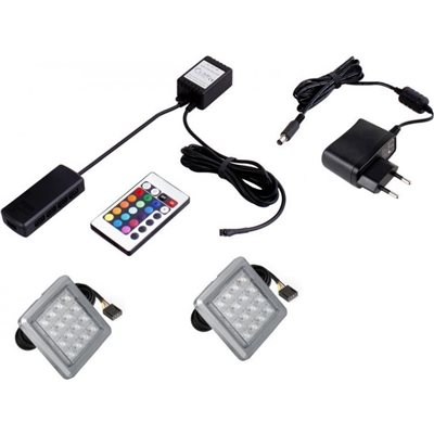 OŚWIETLENIE RGB PODWIEŃCOWE 2 X LED