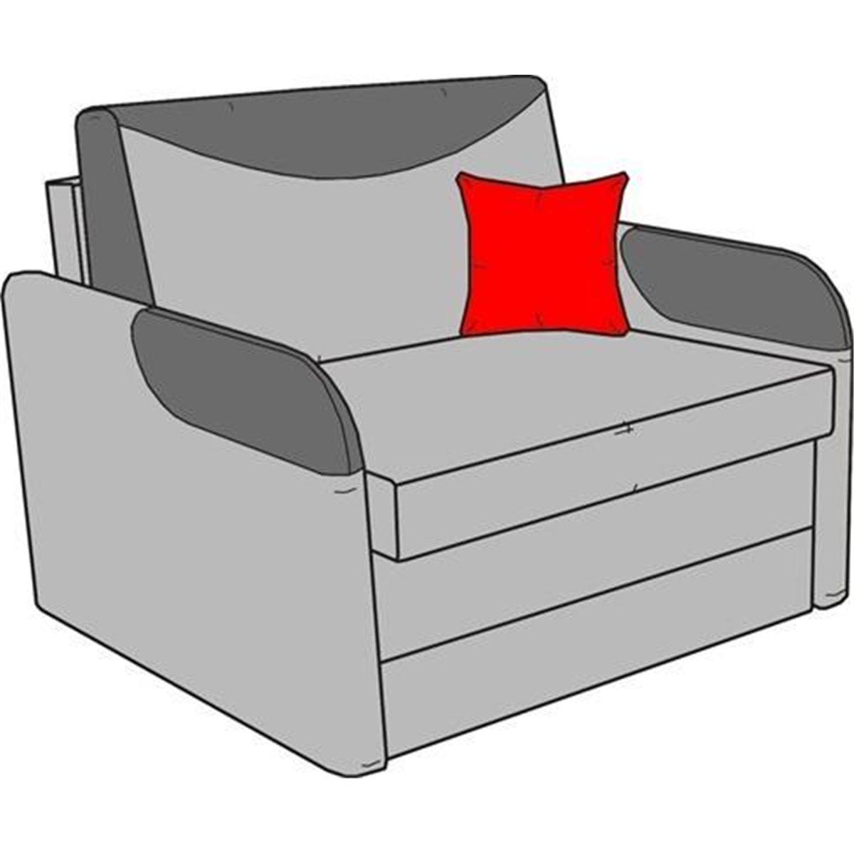 Wizualizacja - JERRY 80 FOTEL ROZKŁADANY Z POJEMNIKIEM