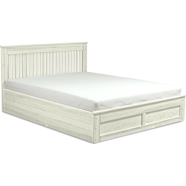 Italia łóżko 160x200 Z Pojemnikiem Sosna Lite Drewno Centrum Meblowe Concept