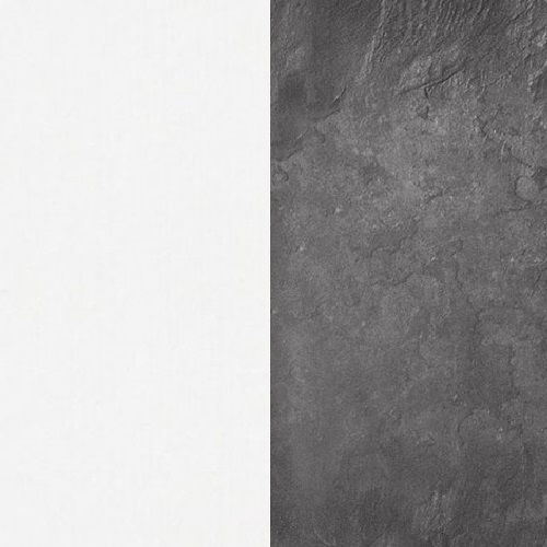 Biały / beton colorado