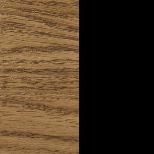 Dąb miodowy olejowany szczotkowany / czarny mat