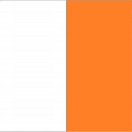 Biały / orange