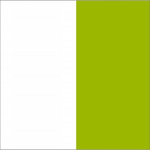 Biały / zielony