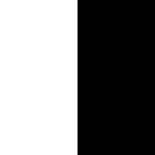 Biały mat / czarny