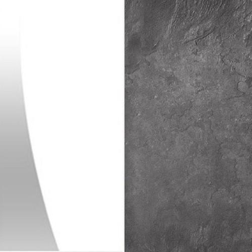 Biały połysk / beton colorado