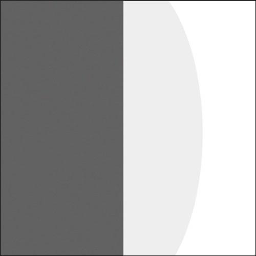 Antracyt / biały połysk