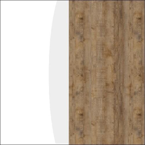 Biały połysk / sandal oak