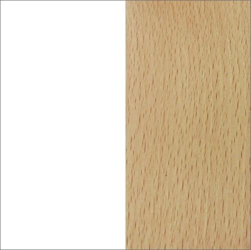 Biały (płyta laminowana) / buk (drewno)