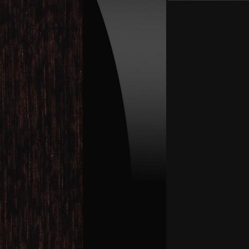 Dąb czekoladowy / czarny / czarne szkło
