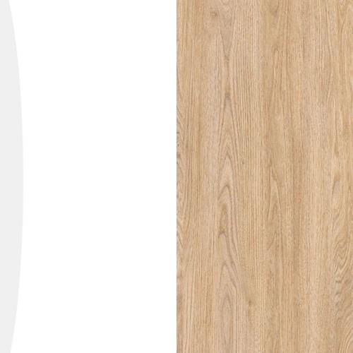 Biały połysk / sandiego butternut