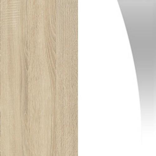 Sonoma jasna / biały połysk